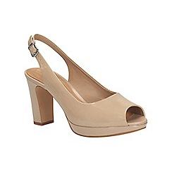 Clarks - Sand Jenness Sound peep toe slingback shoe