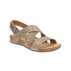 Clarks - Sage suede Perri Dunes riptape sandals