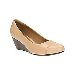 Clarks - Nude Brielle Chanel slip on wedge