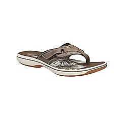Clarks - Pewter Brinkley Mila toe post sandal