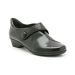 Clarks - Black leather Ella Grace trouser shoe