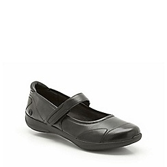 Clarks - Black leather Etna Lime mary jane shoe