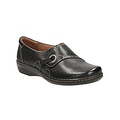 Clarks - Black tumbled leather Evianna Boa trouser shoe