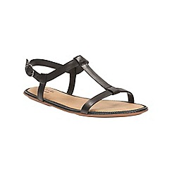 Clarks - Black leather Risi Hop t-bar sandal