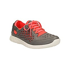 Clarks - Grey combi leather Seremene Lace, lace up shoe