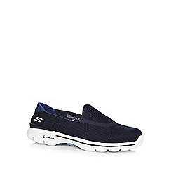 Skechers - Navy 'SKX Go Walk 3' slip on trainers