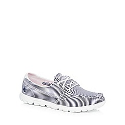 Skechers - White and blue 'SKX-On-The-Go -Sandbar' lace up shoes
