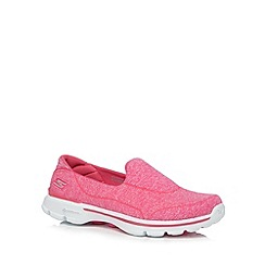 Skechers - Pink 'Go Walk 3 Niche' trainers