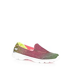 Skechers - Pink 'Go Walk 3' ombre-effect slip-on shoes