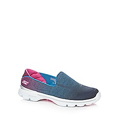 Skechers - Blue 'Go Walk 3 Aura' slip on shoes