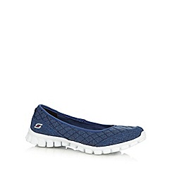 Skechers - Navy 'SKX EZ Flex 2 Û Spruced' slip on trainers