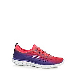 Skechers - Purple 'Glider Fearless' memory foam trainers