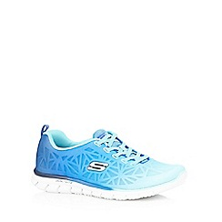 Skechers - Blue 'Glider' ombre-effect trainers