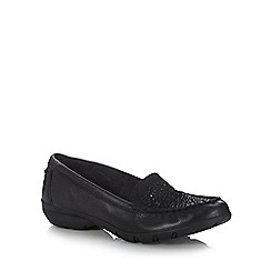 Skechers - Black 'Career Fab Advice' slip-on shoes