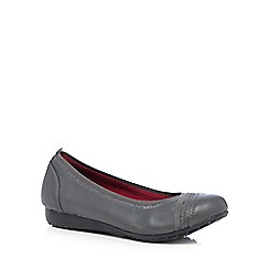 Skechers - Dark grey leather 'Modern Comfort Rome' comfort fit pumps