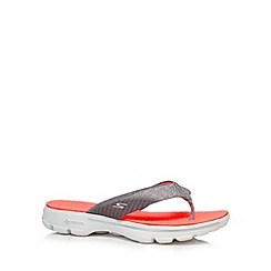 Skechers - Pink 'Go Walk 3 Pizazz' sandals