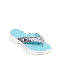 Skechers - Aqua 'Go Walk - Pizazz' flip flops