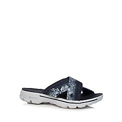 Skechers - Navy 'Go Walk Fiji' sandals