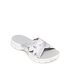 Skechers - Grey 'Go Walk - Fiji' flip flops