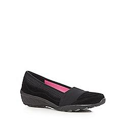 Skechers - Black 'Active' suede slip-on shoes
