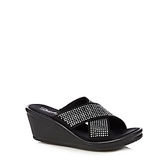Skechers - Black 'Metal Mama' mid sandals