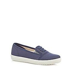 Hotter - Dark blue 'Essmy' canvas shoes