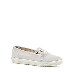 Hotter - Light grey 'Essmy' canvas shoes