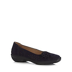 Hotter - Navy 'Mexico' slip-on shoes