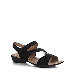 Hotter - Black 'Windward' low strap sandals