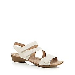 Hotter - Off white 'Windward' low strap sandals