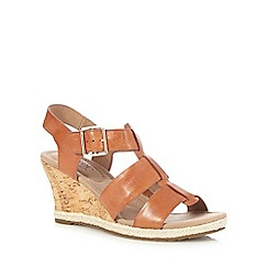 Hotter - Tan 'Roxanne' high wedge sandals