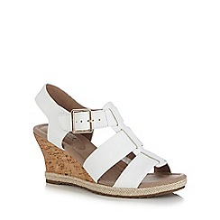 Hotter - White 'Roxanne' high wedge sandals
