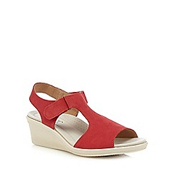 Hotter - Dark red 'Macy' wedge sandals
