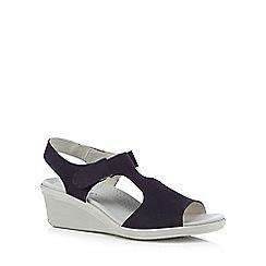 Hotter - Navy 'Macy' wedge sandals