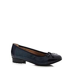 Hotter - Navy 'Trinity' slip-on shoes