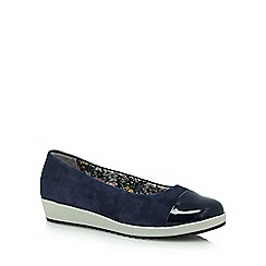 Hotter - Navy 'Angel' slip-on shoes
