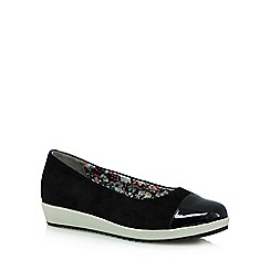 Hotter - Black 'Angel' slip-on shoes