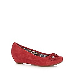 Hotter - Dark red 'Peony' slip-on shoes