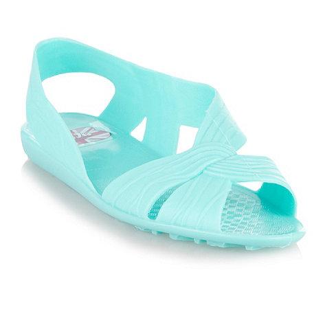 Juju - Aqua cut-out strap sandals