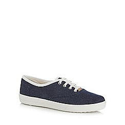 Hotter - Navy chambray trainers