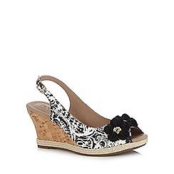 Hotter - Light olive 'Hattie' wedge heels