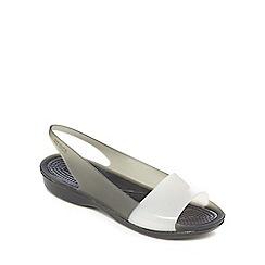Crocs - Black 'Colorblock' jelly sandals