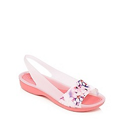Crocs - Pink 'Colorblock' jelly sandals