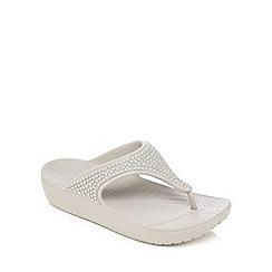 Crocs - Grey 'Sloane' sandals