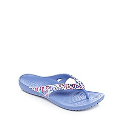 Crocs - Purple animal print sandals