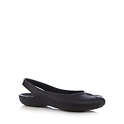 Crocs - Black slingback sandals