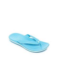Crocs - Blue band white flip flops