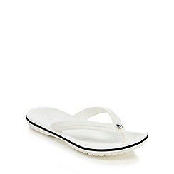 Crocs - White band flip flops