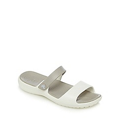Crocs - White strap sandals