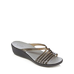 Crocs - Black 'Isabella' jelly sandals